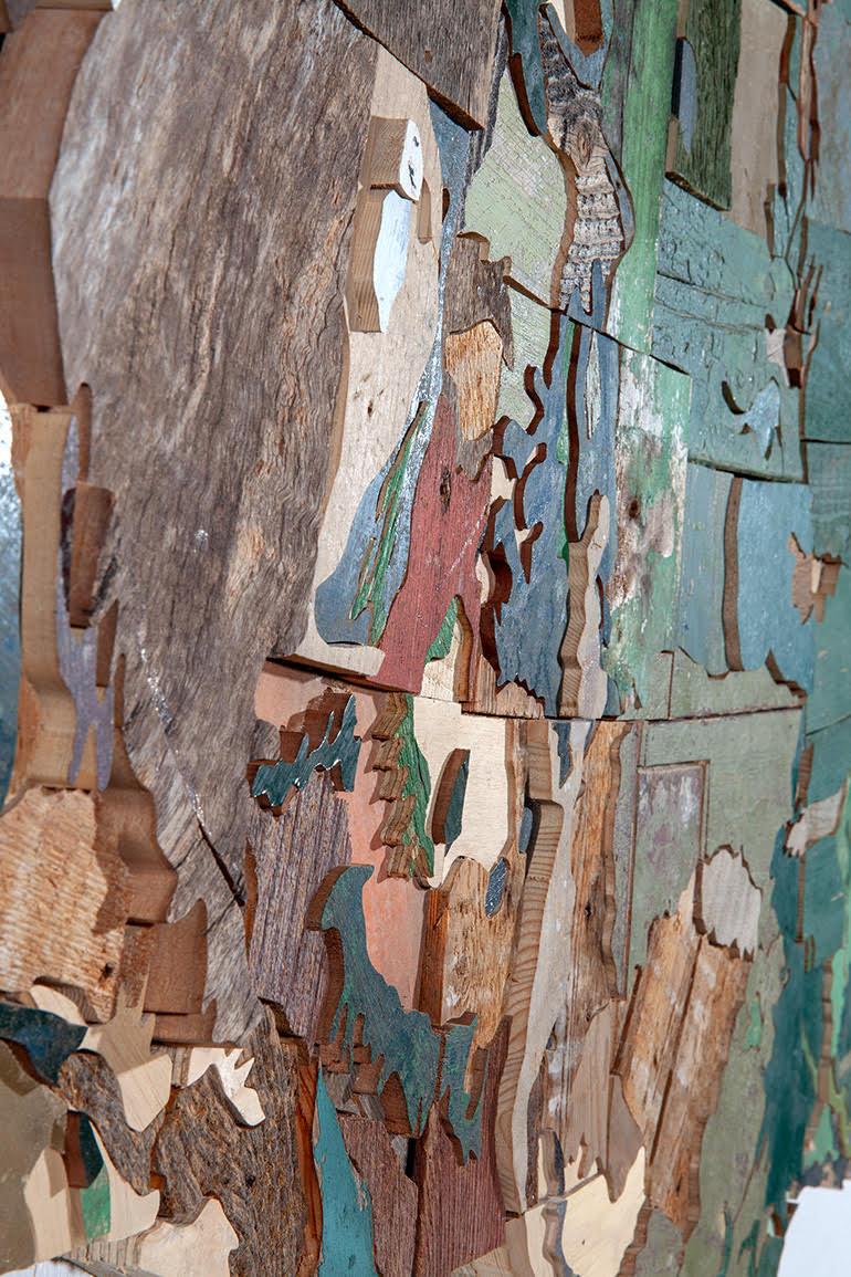 艺术家收集美国50个州的木材,将其打造成杰出的写实作品.jpg
