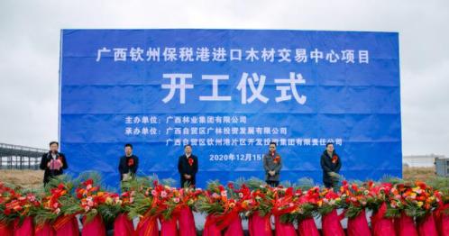 广西钦州保税港进口木材交易中心在钦州港片区开工建设.png
